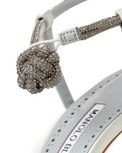 Diablica 105 mint satin jewel sandals