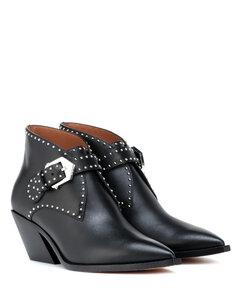 铆钉皮革及踝靴