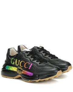 Rhyton皮革运动鞋