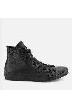 Unisex Chuck Taylor All Star Leather Hi-Top Trainers - Black Monochrome