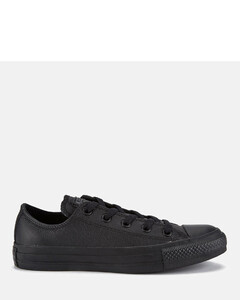 Unisex Chuck Taylor All Star OX Leather Trainers - Black Monochrome