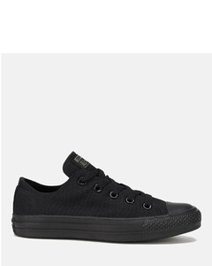 Unisex Chuck Taylor All Star OX Canvas Trainers - Black Monochrome