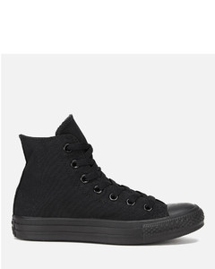 Unisex Chuck Taylor All Star Canvas Hi-Top Trainers - Black Monochrome