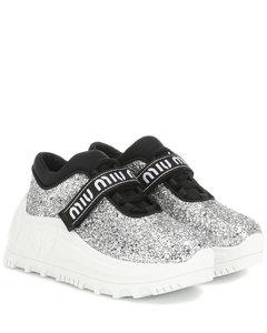 Logo glitter sneakers