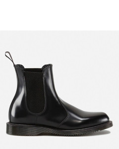 Women's Flora Polished Smooth Leather Chelsea Boots - Black