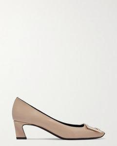 Belle Vivier Trompette漆皮中跟鞋