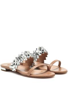 Talisman綴飾皮革涼鞋