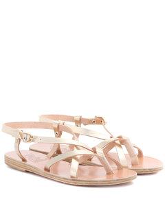 Semele金屬感皮革涼鞋