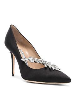 Satin Nadira Heels in Black