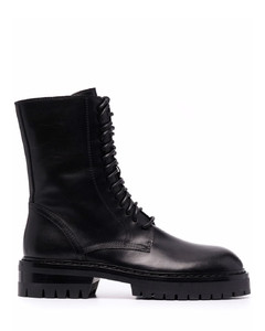 Black rubber and fabric Galaxite boots