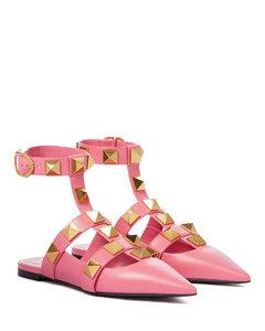 Roman Stud皮革便鞋