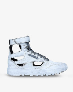 x Reebok brand-badge leather high-top trainers