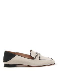 Cassandra Logo-embellished Croc-effect Leather Sandals