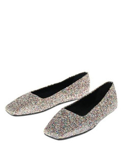 Slide Sneakers in White/Multicolored Leather
