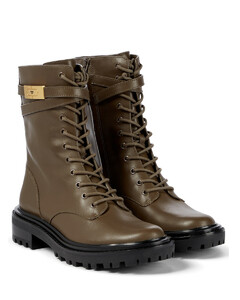 T Hardware皮革战地靴