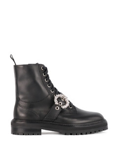 Cora Flat Crystal ankle boots