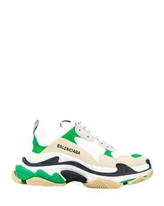 Triple S Ladies Dark Green/White Sneakers
