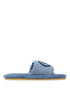Shadow Logo Denim Sandals - Blue