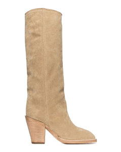Heeled Ankle Boots - Taupe