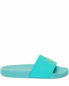 Woman Buckled Leather Mules
