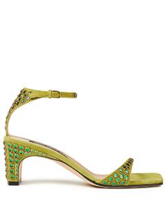Woman Sr1 Crystal-embellished Suede Sandals