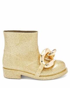 Chain metallic-rubber boots