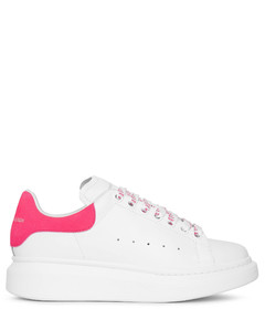 White and peony pink classic sneakers