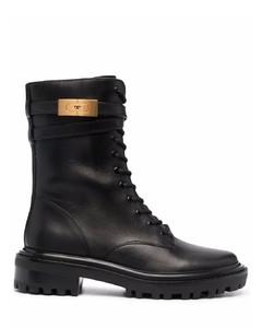 Hardware combat boots