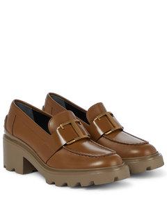 T-缀饰皮革乐福鞋