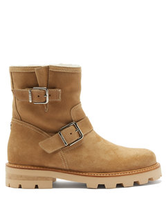 Youth II shearling-lined suede boots