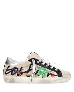Low-Top Sneakers SUPER-STAR velvet