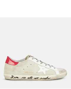 Women's Superstar Suede Trainers - Ice/White/Light Red