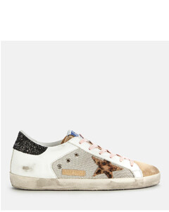 Women's Superstar Mesh/Leather Trainers - Silver/White/Capuccino