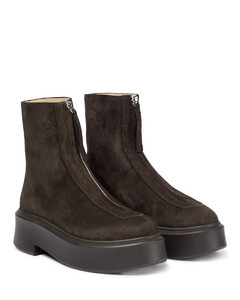 Zipped Boot suede boots