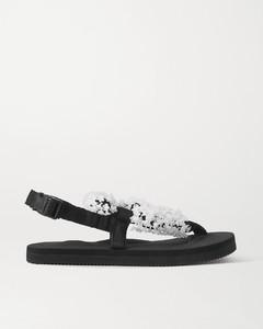Suicoke Kat Embellished Canvas Sandals