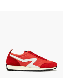 Woman Leather-trimmed Suede And Shell Sneakers
