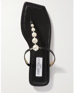 Alaina Embellished Leather Sandals