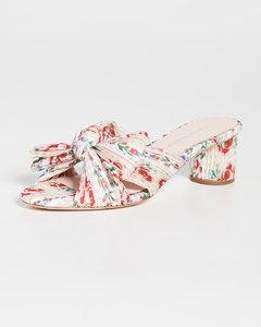 Emilia裥褶结饰穆勒鞋