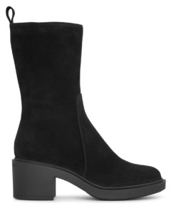 Exton black suede boots