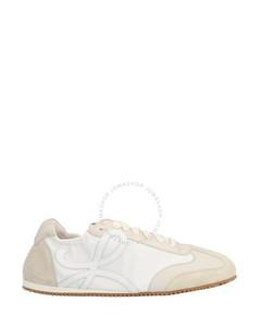 Ladies Ballet Runner Sneaker, White/Off-White
