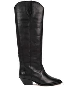 Denvee 50 black leather knee-high boots