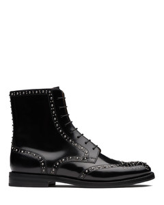 Polished Binder Lace-Up Boot Stud