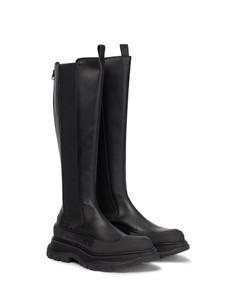 Tread knee-high boots