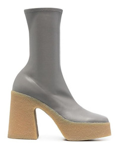 WOMEN'S 800371W1CV01740 GREY POLYESTER ANKLE BOOTS