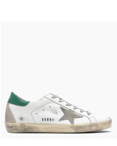 White/green Superstar sneakers