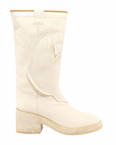 Logo Patch Mid-Calf Boots