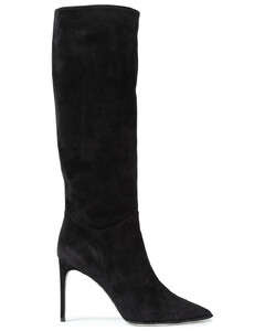 Woman Crystal-embellished Suede Knee Boots