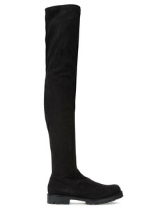 Woman Crystal-embellished Stretch-suede Thigh Boots