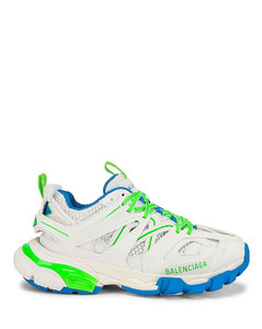 Track Sneakers in Blue,Green