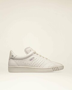 Leather Sneakers In Dusty White